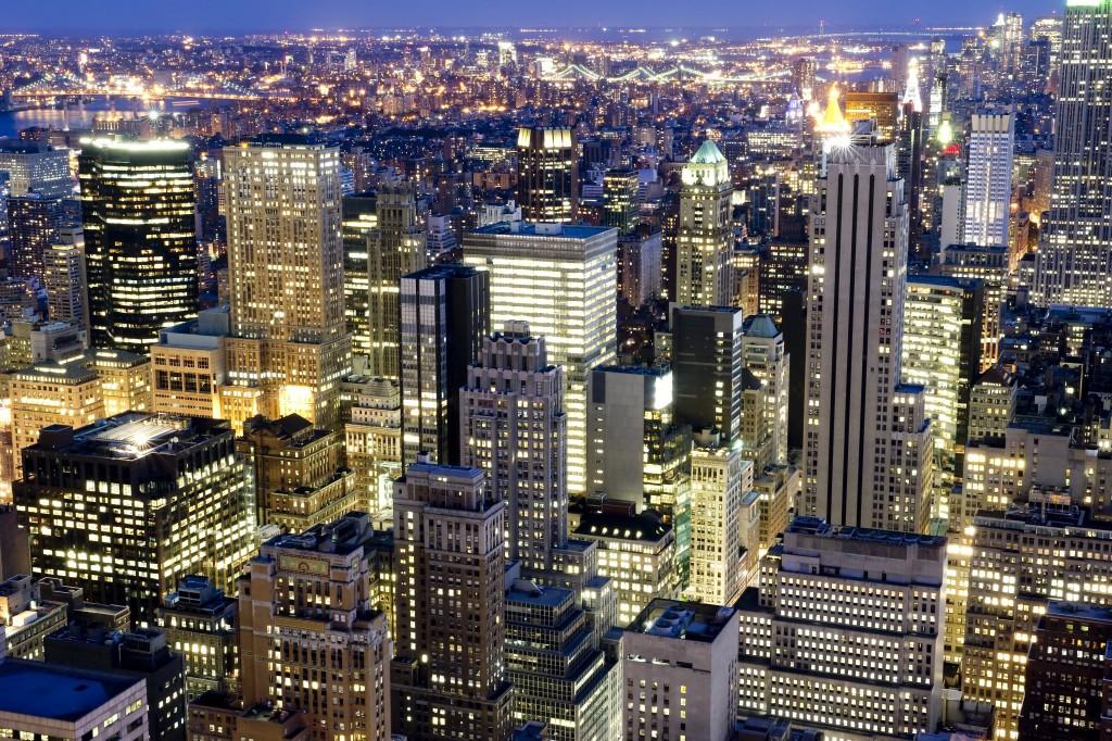 Big city night lights