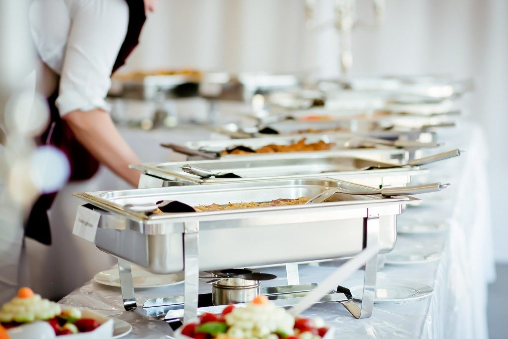 catering food at wedding